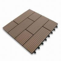 WPC Tile for Outdoor Floor, Available in Size of 310 x 310 x 22mm Manufactures