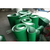 China Smooth Surface Green PVC Conveyor Belt Replacement Conveyor Belts Thickness 1mm ~ 7mm on sale