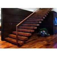 Buy cheap Building Floating Steps Staircase Glass Balustrade Stairs Extremely Aestheticall from wholesalers