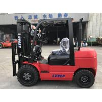 FD30 3 Ton Diesel Forklift Truck , 4500mm Triplex Mast Forklift With Free Parts Manufactures