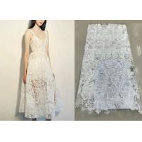 Shiny Sequin Embroidered Floral Beaded Bridal Lace Fabric Light And Transparent Texture Manufactures