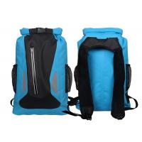 Watertight Blue Dry Bag Backpack With Silkscreen Printing Custom Logo Manufactures