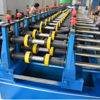 Metal Chanel Roll Forming Machine Chain Driven PLC Control 22KW With Reducer Manufactures