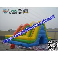 Quality Colored Commercial Grade PVC Tarpaulin Inflatable Bouncy Castle Slide Combo for sale