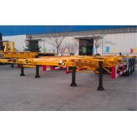 Buy cheap 48ft 40 Tons Gooseneck Flatbed Container Trailer , 3 Axles Flatbed Truck Trailer from wholesalers