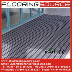 Outdoor Commercial Aluminum Doormat Aluminum extrusion frame carpet brush rubber infill Entrance Carpet Floor Covering Manufactures