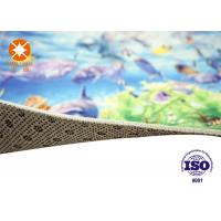 Custom Size Printed Polyester Carpets Non Woven Back For Home / Theater Manufactures
