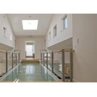Modern Stainless Steel Glass Balcony Railings , Clear Laminated Glass Railing Manufactures