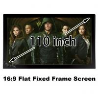 Buy cheap Top Rank 4k Projector Screen 110 Inch Unbent DIY Wall Mount 137x244cm Projection from wholesalers