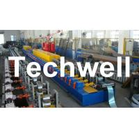 High Quality PU Foam Rolling Door Slat Roll Forming Machine With Flying Saw Tracking Cut Manufactures