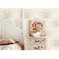 Cheap PVC 3D Cheap Discount Wallpaper / Country Style Wallpaper With Rose Pattern , 0.53*10M for sale
