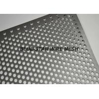Fencing / Gate Aluminium Perforated Metal Sheet / Coil With 45 60 90 Degree Punching Hole Manufactures