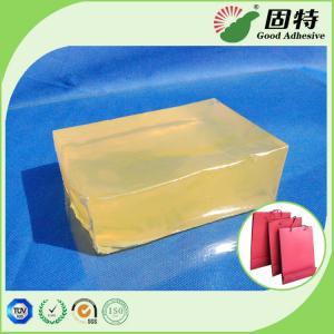 Cheap Yellow Block Hot Melt Pressure Sensitive Adhesive For Handbag Bottom Sealing for sale