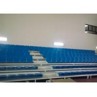 Badminton Court Retractable Bleacher Seating Metal Brackets HDPE Seating