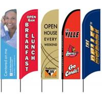 Custom Outdoor Feather Banner Flags Manufactures