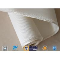 Ablation Resistance 1.3mm White Color 12HS Satin Weave 1250g High Silica Cloth Manufactures