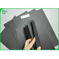 Wood pulp 120gsm To 500gsm Double Sided Solid Black Paperboard For Book Binding Manufactures