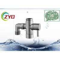 Buy cheap 1/2MX3/4MX3/4F Shower Room Accessory Brass Chrome Plated Three Way T-adapter from wholesalers