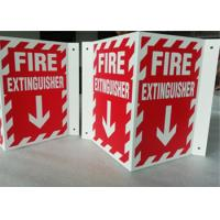 China 3D Triangle Mount Personalized Outdoor Metal Signs , V Sharp  Fire Extinguisher Sign on sale