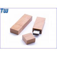 China Slim Wooden Bamboo Brick 64GB Pendrive Stick Drive Natural Product on sale