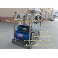 Cheap 2.2kw Vacuum Cow Breast Mobile Milking Machine With 4 Cluster Group for sale