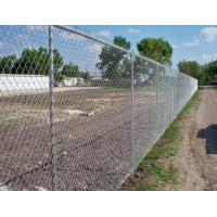 Low Carbon Iron Wire Metal Chain Link Fence / Baseball Field Fence With Accessories Manufactures