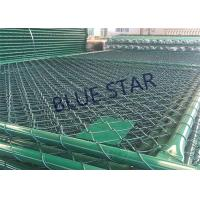 Green / Balck Wire Mesh Fencing  PVC Coated 0.5 - 6m Width Chain Link Fence Manufactures