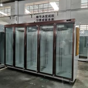 5 Glass Door Frozen Foods R404a Commercial Reach In Standing Freezer Manufactures