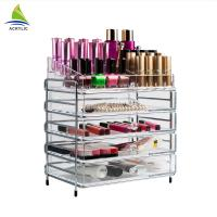 Elegant Makeup Storage 4 Drawer Storage Box Clear Acrylic Tiers Display Shelf Manufactures