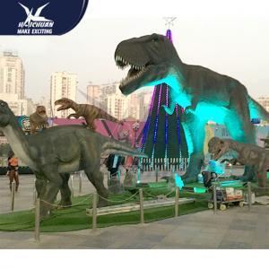 Outdside Theme Park Realistic Dinosaur Models / Life Like Garden Animals Manufactures