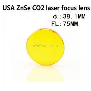 Quality USA ZnSe laser pointer lens 38.1MM diameter 75MM focus length for laser for sale