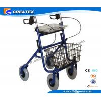 Economy Durable Steel Folding Rollator Walker with Four Wheel For Handicapped Manufactures