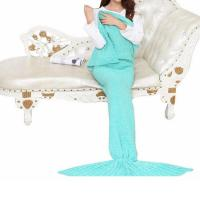 2017 new fashion 100% acrylic colors girls mermaid tail blanket Manufactures