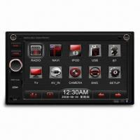 Car MP3 Player with 6.2-inch WVGA TFT LCD Fixed Panel and Built-in Navigation, Supports Bluetooth Manufactures