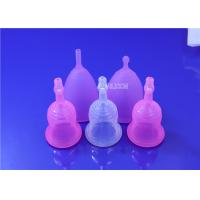 Foldable Silicone Menstrual Cup Liquid Sterilizing No Foreign Body Sensation Manufactures