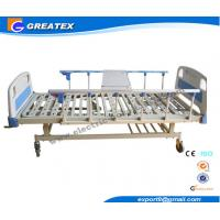 2 Cranks Manual Hospital Bed 2 Functions 2100*900*500 Mm With ABS Dining Board Manufactures