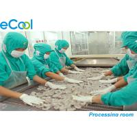 Custom Industrial Cold Storage 3000 Tons , Cold Room For Frozen Seafood Manufactures