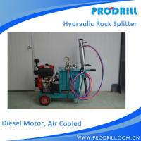 Buy cheap Diesel Power Air cooled Type Hydraulic Stone Splitter for Drilling from wholesalers