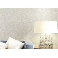 Cheap Floral Wet Embossed Non - Woven European Style Wallpaper For Study Room for sale