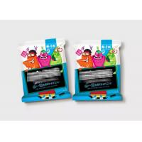 3 Side Seal Laminated Flexible Plastic Zipper Bags For Snack Food Colorful Printing