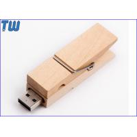 Cheap Bulk Wood Clip 8GB USB Thumb Drive Multi-function Custom Branding for sale