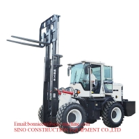 3T Diesel Off Road Forklift Truck With 50L Fuel Tank Manufactures