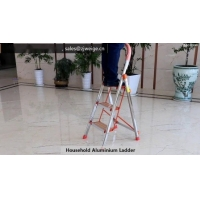 Silver 3 Step 1.0mm Household Aluminium Ladder Manufactures