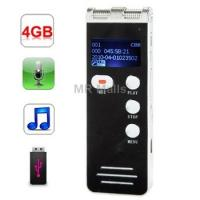 Cheap Voice Recorder | 4GB Digital Daul Microphone Voice Recorder for sale