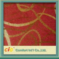 Eco - Friendly Polyester Carpet Fabrics / Exhibition Carpet Cloth For Hotel / Car Upholstery Manufactures