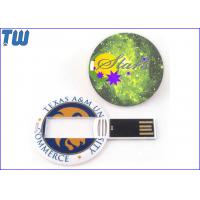 Buy cheap Personalized Pritning Round Card 1GB USB Memory Stick Disk Storage from wholesalers