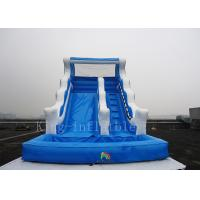 Outdoor Playground Amusement Park Water Slide Blue Color 1 Year Warranty Manufactures