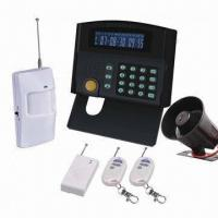 24 Wireless Zones and 2 Wired Zones, Two Remote Controllers LCD GSM PSTN Alarm System  Manufactures