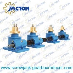 China 1 Ton Machine Screw Jack Lifting Screw Diameter 24MM Lead 4MM Gear Ratio 6:1 and 24:1 on sale