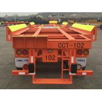 Buy cheap Solid Tyre Flatbed Container Trailer 45ft 2 Axles Container Transport Trailer from wholesalers